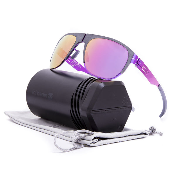 ic! Berlin 50 Arnouxstrabe Sunglasses Electric Violet Grey / Magenta Mirrored