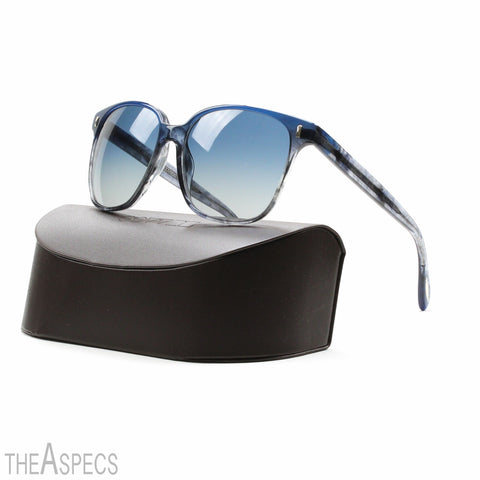 Oliver Peoples Marmont Womens Sunglasses Sea Blue Frame Pacific Gradient Lenses