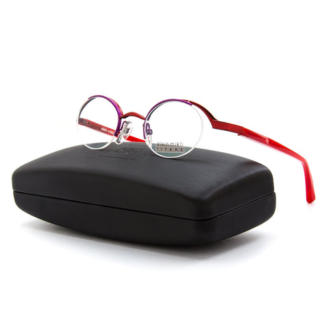 Alain Mikli AL 0552 Eyeglasses Red Purple Frame RX Clear Demo Prescription Lens