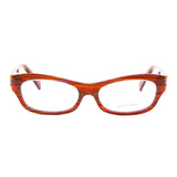 Alain Mikli AL 1010 Eyeglasses B0D5 Amber Multicolor Striped Frame RX Clear Lens