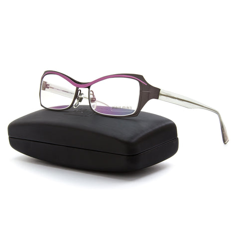 Alain Mikli AL 1117 Womens Eyeglasses M01M Brown Lilac Pink / RX Clear Lenses