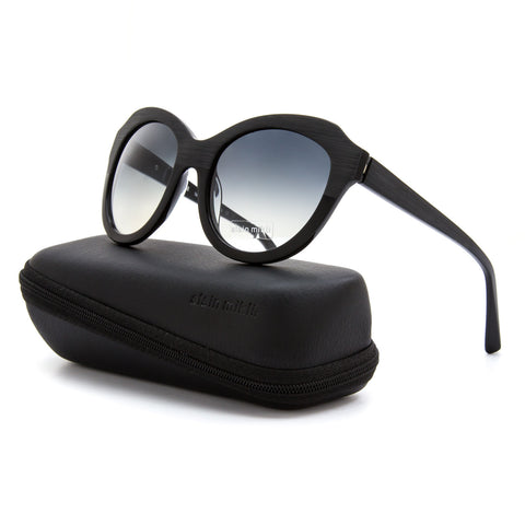 Alain Mikli AL 1349 Womens Sunglasses 0101 Black Frame / Black Gradient Lenses