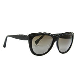 Alain Mikli AL 1408 Womens Sunglasses 0101 Black Frame / Grey Gradient Lenses