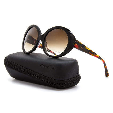 Alain Mikli AL 1409 Womens Sunglasses A039 Black Red Frame Brown Gradient Lenses