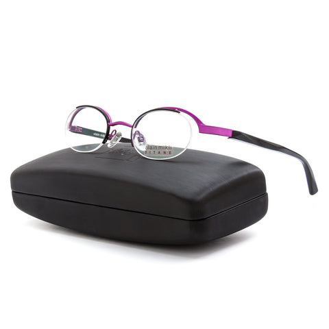 Alain Mikli AL0551 Eyeglasses Purple Black Frame RX Clear Demo Prescription Lens