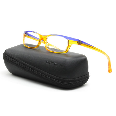 Alain Mikli AL 0690 Womens Eyeglasses Yellow Purple Frame RX Clear Demo Lenses