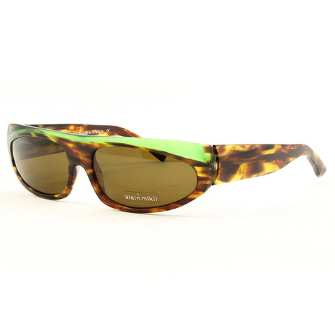 Alain Mikli AL 0850 Pocket Shop Womens Sunglasses Green Brown Tortoise Polarized