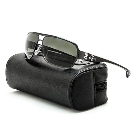 Chrome Hearts Mount Sunglasses SBK EBPV Shiny Black Ebony Wood Piano