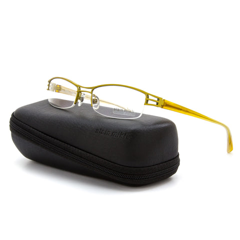 Alain Mikli AL 1106 Womens Eyeglasses M00M Yellow Frame Demo Prescription Lenses