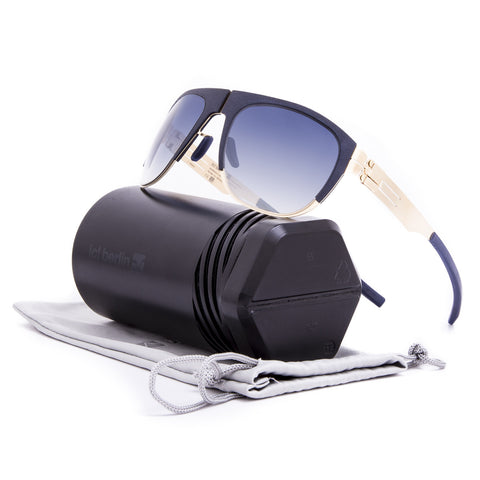 ic! Berlin 50 Arnouxstrabe Sunglasses Matte Gold Anthracite / Blue Night Clear