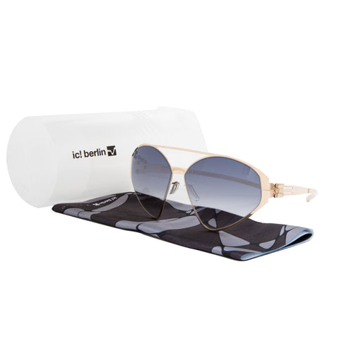 ic! Berlin Katarzyna Sunglasses Rose Gold / Black to Clear Gradient Lens