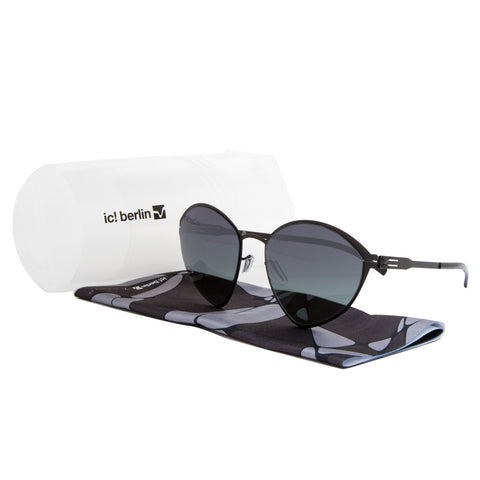 ic! Berlin Malgorzata Sunglasses Black Obsidian / Black to Green Gradient