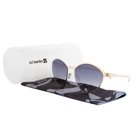 ic! Berlin Malgorzata Sunglasses Rose Gold / Black to Clear Gradient Lens