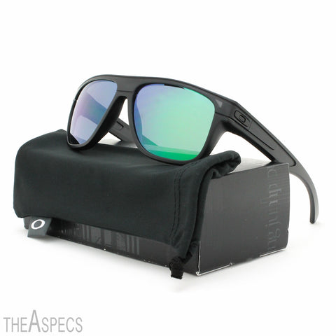 Oakley Breadbox Sunglasses OO9199-06 Matte Black Ink / Jade Iridium Lens