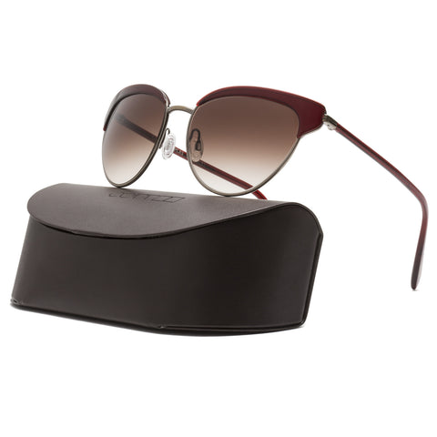 Oliver Peoples Josa Sunglasses 5039/13 Ruby Gold Frame Spice Brown Gradient Lens