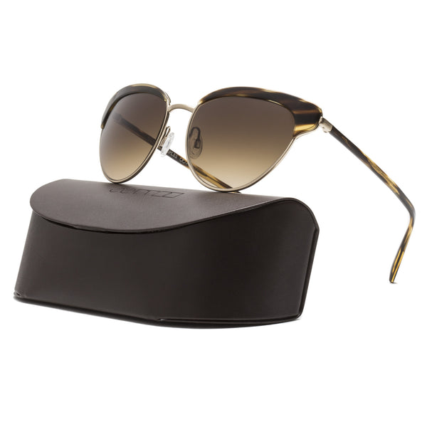 Oliver Peoples Josa Womens Sunglasses 523613 Cocobolo Brushed Gold / Umber Brown