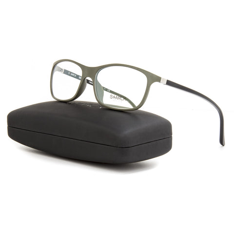 Starck Eyes 1014 BioZero Eyeglasses 03 Black Green Frame / RX Clear Lens 56 mm