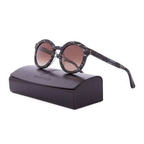 Thierry Lasry Smacky Sunglasses 2903 Multi Color Pattern Black Grey / Brown Lens