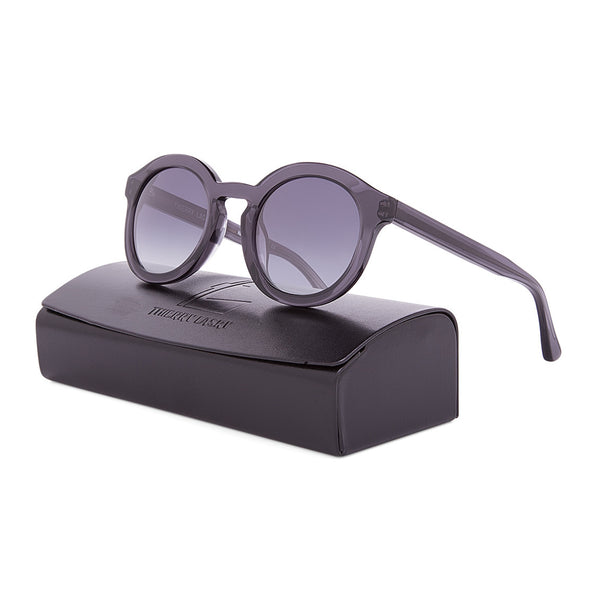 Thierry Lasry Smacky Sunglasses V330 Translucent Black / Grey Gradient