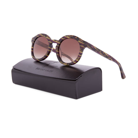 Thierry Lasry Smacky Sunglasses AR6 Multi Brown Pattern Frame / Grey Gradient