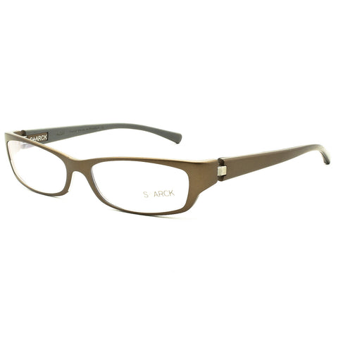 Starck Eyes Eyeglasses PL0401 Col. 0004 Brown with Clear Demo Lenses