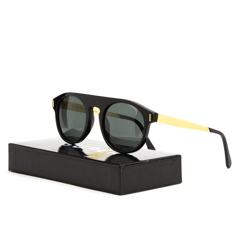 Super Sunglasses 3XC Racer Francis Black Gold by RETROSUPERFUTURE