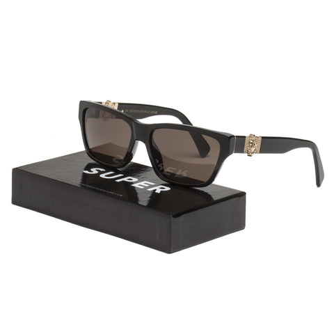 RETROSUPERFUTURE Super BKS Novanta Ex-Voto Sunglasses Black & Gold