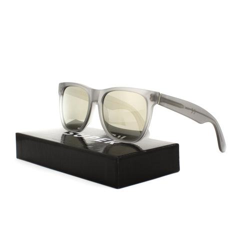 RETROSUPERFUTURE Super Classic Fantom Sunglasses SUEB3 Transparent Grey Mirrored