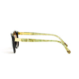 RETROSUPERFUTURE Super Racer Onice Verde Sunglasses I07 Black Gold Mineral Brown