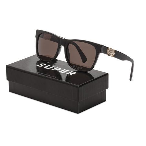 RETROSUPERFUTURE Super Ex-Voto Sunglasses SU8JF Black Gold Decor Zeiss Lenses