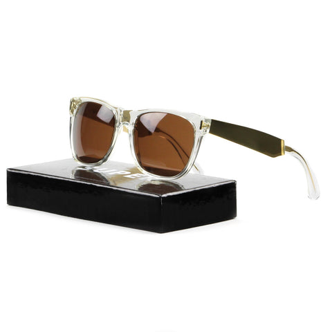 RETROSUPERFUTURE Super Classic Sunglasses 892 Francis Crystal Gold / Brown Lens