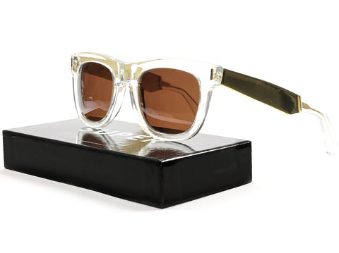 RETROSUPERFUTURE Super Ciccio Sunglasses SU894 Gold Francis Crystal / Brown Lens