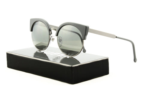 Super AWW Sunglasses Ilaria Black Matte, Grey Zeiss Lenses by RETROSUPERFUTURE