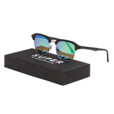 RETROSUPERFUTURE Super WB0 Gonzo Cove II Sunglasses Black Frame / Green Mirrored