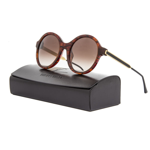 Thierry Lasry Gifty Sunglasses 053V Honey Tortoise Frame / Brown Gradient Lens