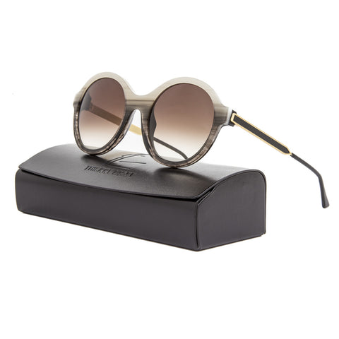 Thierry Lasry Gifty Sunglasses 3414 Grey Striated Horn Frame / Brown Gradient