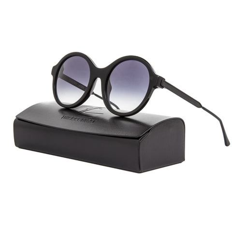 Thierry Lasry Gifty Sunglasses 700 Black Frame / Black Gradient Lenses
