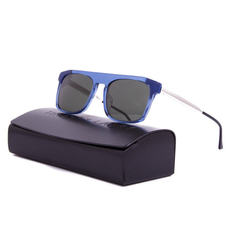 Thierry Lasry Kendry Sunglasses 862 Blue w/ White Frame / Grey Lens