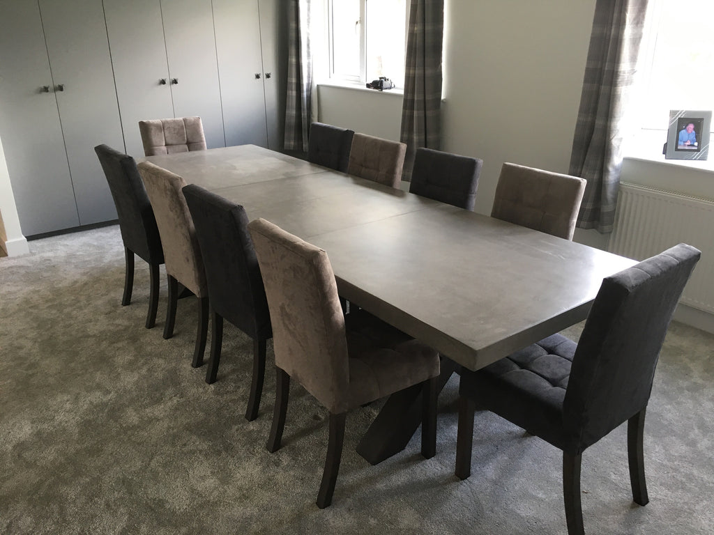 Polished concrete extending dining table4