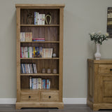 Deluxe Rustic Oak Large Bookcase