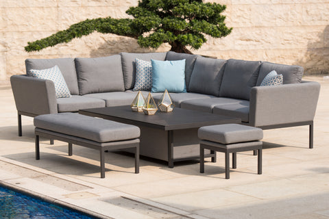 Pulse Corner Sofa Dining Set With Rising Table – Woodstock