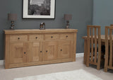 Stratford Oak 4 Door Sideboard