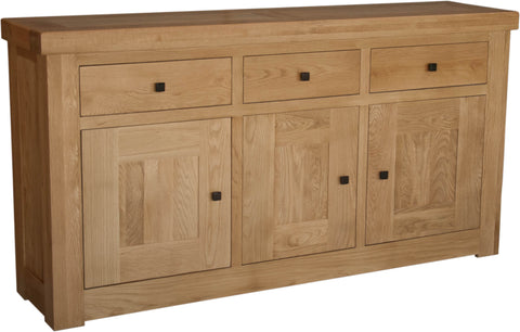 Stratford Oak 3 Door Sideboard