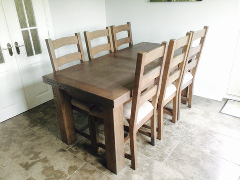 Ex Display Hampton 180cm Extending Dining Table