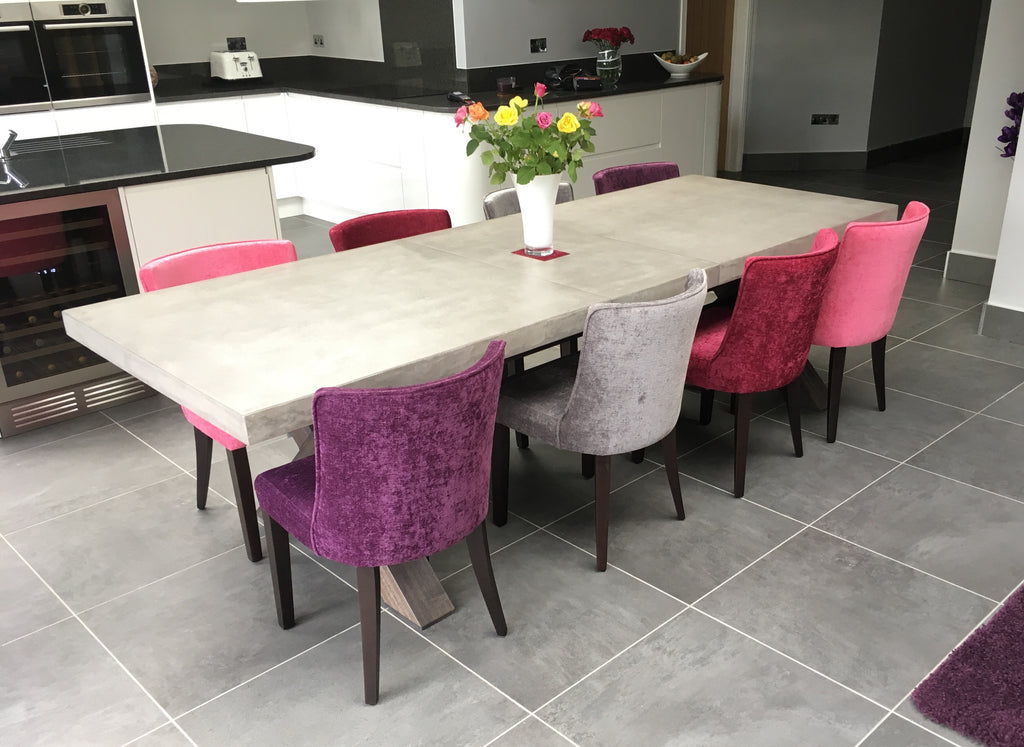 Polished concrete extending dining table3