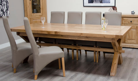 Warwick Oak Grand Trestle Extending Table