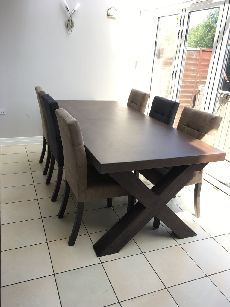 Polished concrete extending dining table8