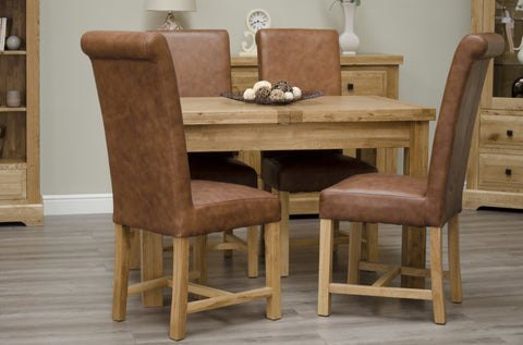 Deluxe Rustic Oak Butterfly Extending Table