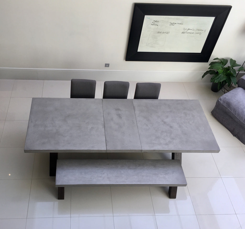 Polished concrete extending dining table10