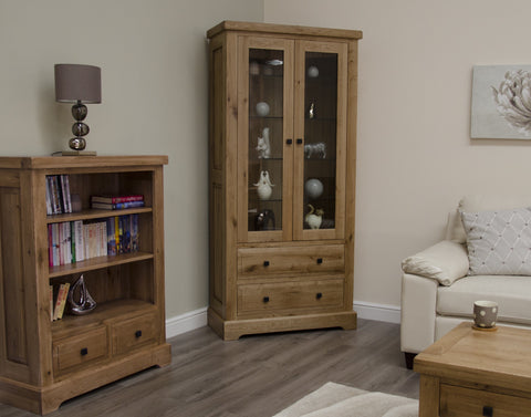 Deluxe Rustic Oak Display Unit